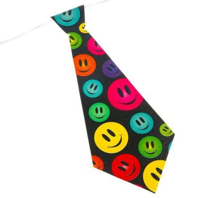 """Карнавальный галстук (набор 6 шт) """"Смайлы"""""""