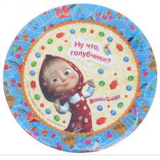 """Набор бумажных тарелок """"Машины сказки"""" 23 см, 6 шт."""