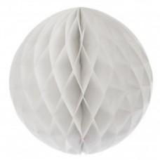 Бумажные шары соты белый цвет 25 см