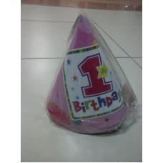 Праздничный колпачок на 1 годик для девочки
