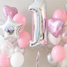 """Сет шаров """"Первый День рождения принцессы"""""""