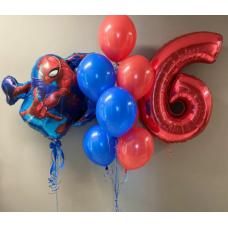 """Сет шаров """"Человек паук"""" 1"""