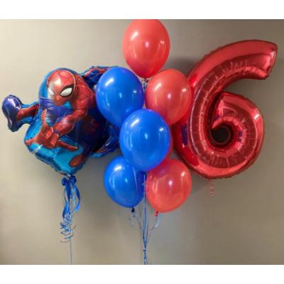 """Сет воздушных шаров  """"Человек паук"""" 1"""