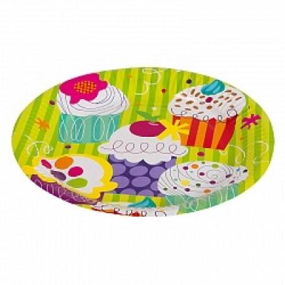 """Бумажные тарелки """"Пирожные"""", 6 шт"""