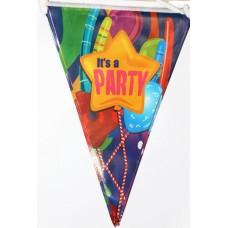 Растяжка флажки It's a Party