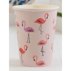 """Бумажные стаканчики """"Фламинго"""", Белый, 6 шт., 180 мл"""