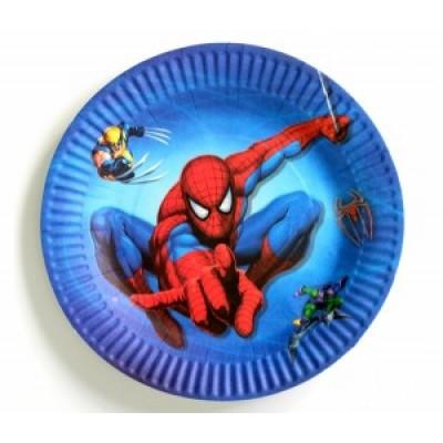 """Бумажные тарелки """"Человек паук"""" 18 см, 10 шт"""