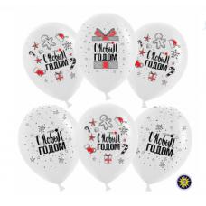 """Воздушные шарики """"С Новым Годом!"""" (снежинки и подарки)"""