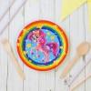 Тарелка бумажная «Красавица пони», радуга и звёзды, 18 см
