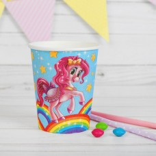 Бумажный стакан «Красавица пони. Радуга и звезды», 250 мл