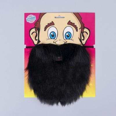 Карнавальная борода, 27х22 см, цвет чёрный