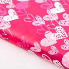 Бумага упаковочная глянцевая «Люблю», 50 х 70 см