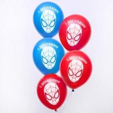 """Воздушные шары «С Днём Рождения», Человек-паук,  12"""""""