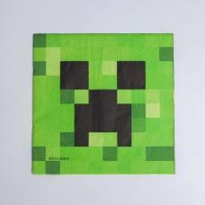 Салфетки бумажные «Майнкрафт», набор 20 шт., 33х33 см