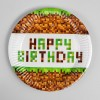 Тарелка бумажная Happy birthday!, 18 см