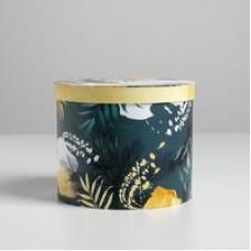 Коробка подарочная круглая «Тропики», 15 × 18 см