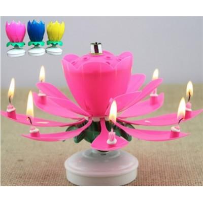 Музыкальная свеча цветочный бутон